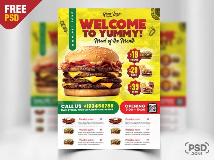 Free Restaurant Flyer PSD