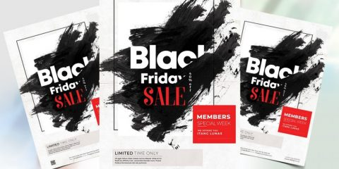 Free Sale for Black Friday PSD Flyer Template