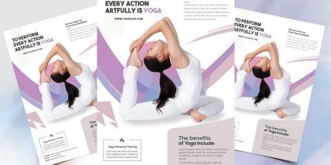 Free Yoga Class PSD Flyer Template