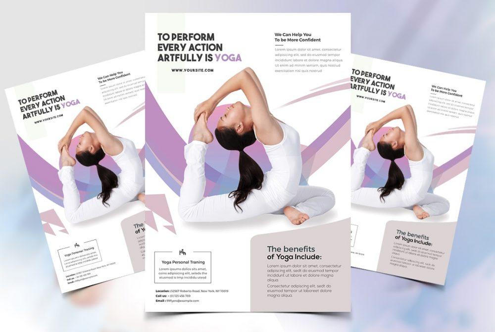 Free Yoga Class Psd Flyer Template Psdflyer
