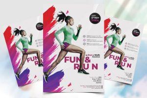 Marathon Day  Free PSD Flyer Template