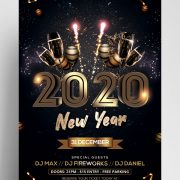 2020 NYE Eve Free PSD Flyer Template