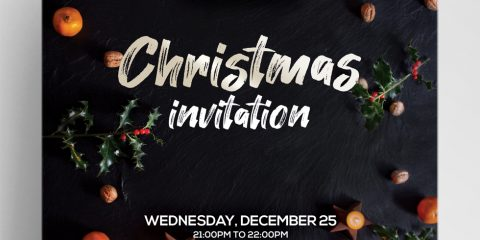 Christmas Invitation Free PSD Template