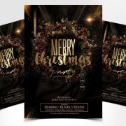 Christmas Party - Elegant Free PSD Flyer Template