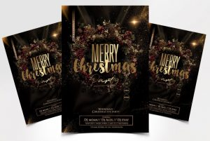Christmas Party – Elegant Free PSD Flyer Template