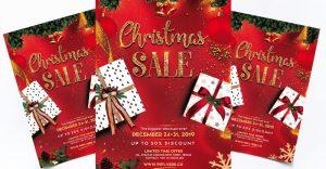 Christmas Sale PSD Free Flyer PSD Template