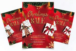 Christmas Sale PSD Free Flyer PSD Template