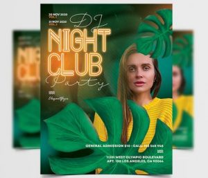 Club Party – Free PSD Flyer Template