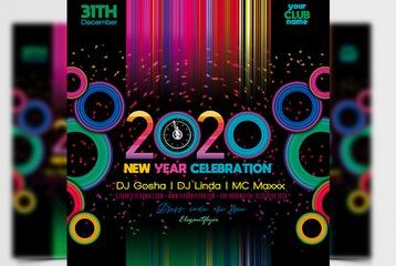 Free New Year Celebration Flyer Template