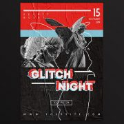 Glitch Night PSD Free Flyer Template