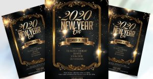 Happy NYE Eve 2020 Free PSD Flyer Template