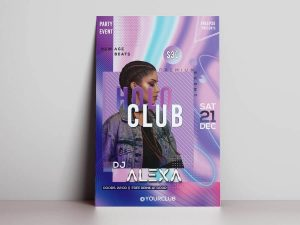 Holo Club Free PSD Flyer Template