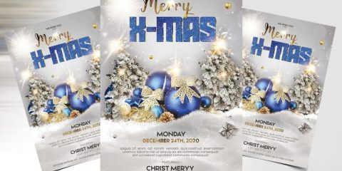 Merry Christmas PSD Free Flyer Template