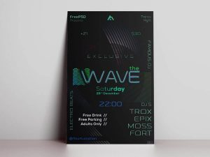 The Wave Free PSD Flyer Template