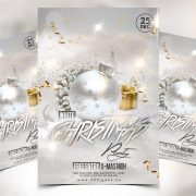 White Christmas Party Free PSD Flyer Template