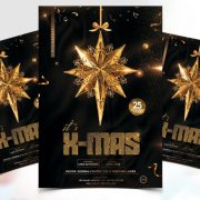 X-Mas Event Flyer Free PSD Template