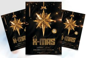 X-Mas Event Flyer Free PSD Template