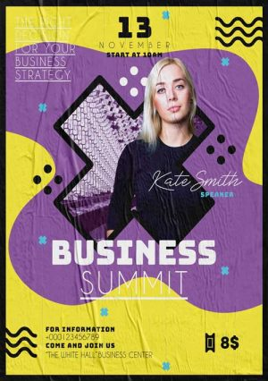 Business Summit - Free Event PSD Flyer Template