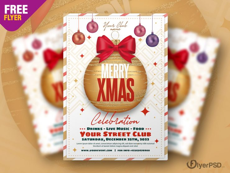 Christmas Event Flyer Template for Free
