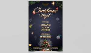 Christmas Night Event Freebie PSD Flyer Template