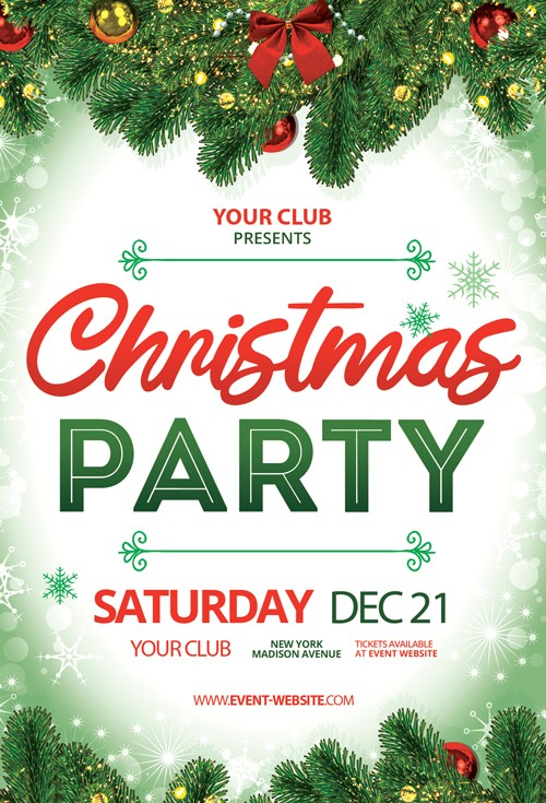 Christmas Party Event Free PSD Flyer Template - PSDFlyer