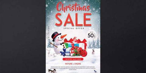 Christmas Sale Free PSD Flyer Template