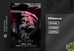 Club Vibes DJ Free PSD Flyer Template