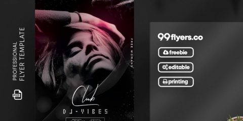 Club Vibes DJ Free Flyer Template