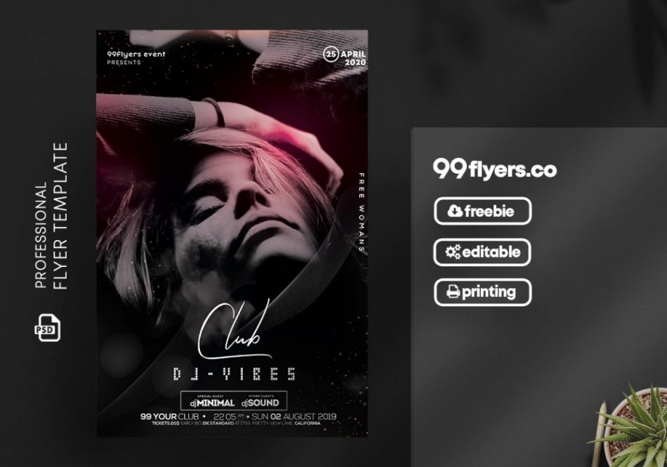 Club Vibes DJ Free Flyer Template