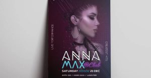 DJ Club Party Flyer Template for Free