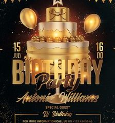 Free Birthday Event Flyer Template in PSD