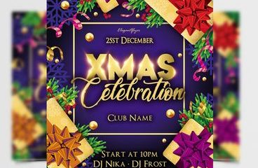 Free Christmas Day PSD Flyer