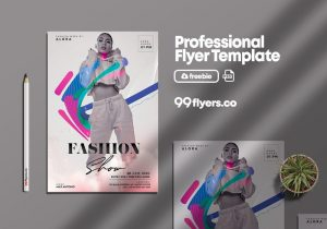 Free Fashion Show PSD Flyer