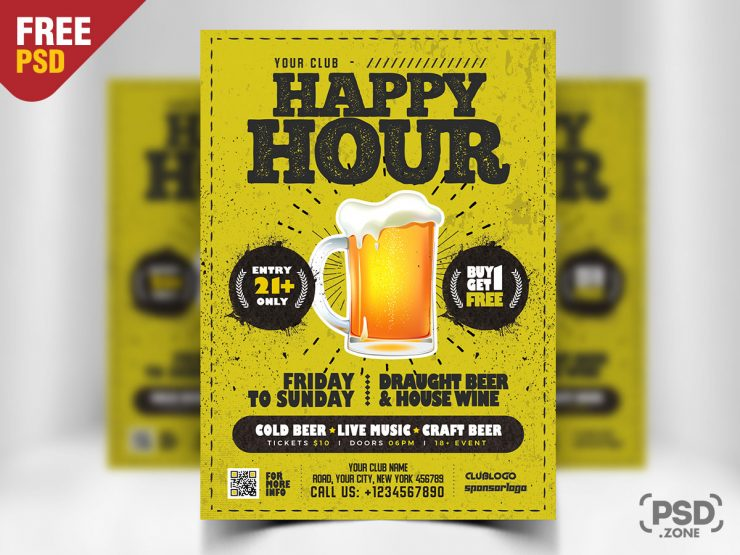 Free Happy Hour Flyer Template