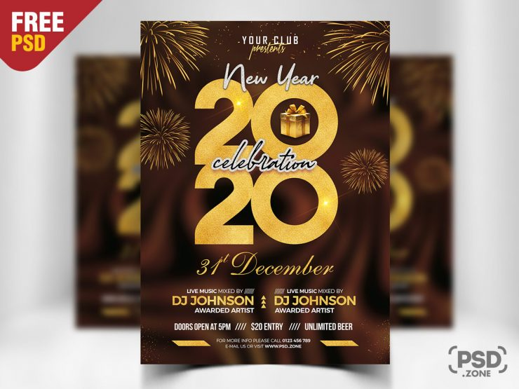 Free New Year Eve 2020 Event PSD