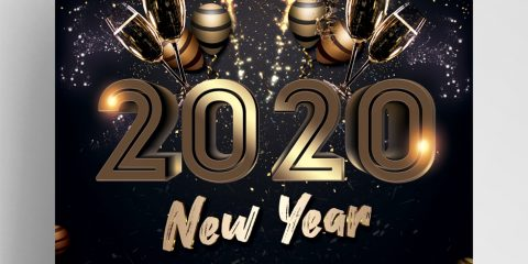 Happy 2020 NYE Eve Free PSD Flyer Template