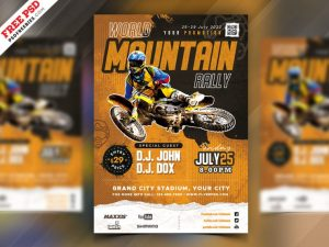 Racing Event Freebie PSD Flyer Template