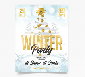 Winter Party PSD Free Flyer Template vol2