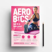 Aerobic & Fitness - Free PSD Flyer Template