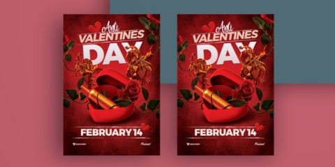 Anti-Valentine Day Free PSD Flyer Template