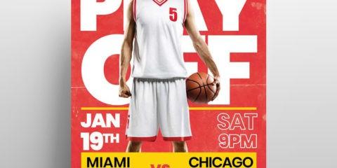 Basketball Match Free PSD Flyer Template