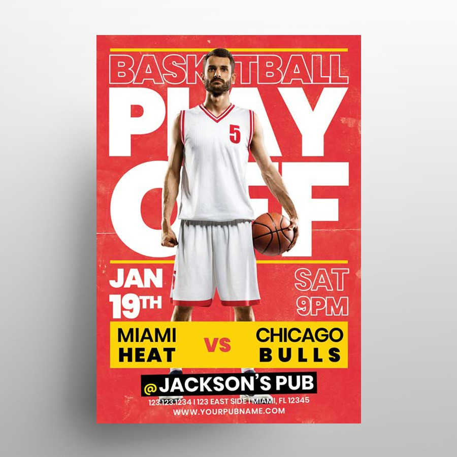 Basketball Match Free PSD Flyer Template