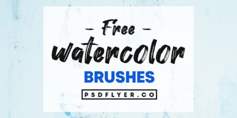 Best Collections of Free Watercolor Photoshop Brushes