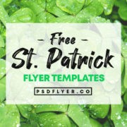 Best Free ST. Patricks Day PSD Flyers Templates