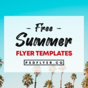 Best Summer & Tropical Free PSD Flyers