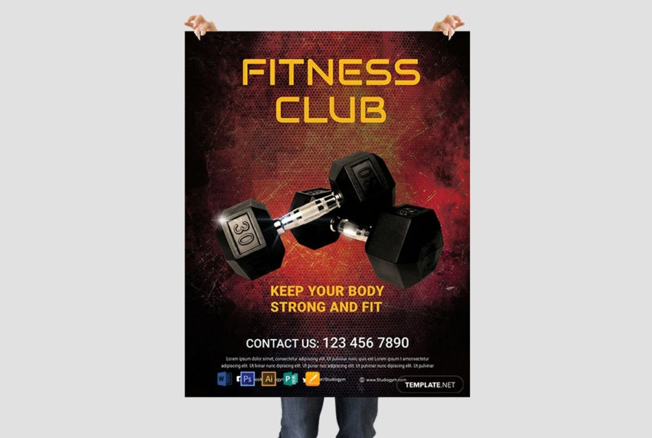 Body Fitness Club Free PSD Flyer Template