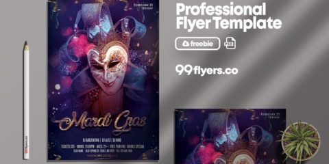 Carnival 2020 - Free PSD Flyer Template