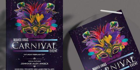 Carnival Festival Free PSD Flyer Template
