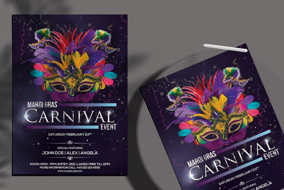 Carnival Festival Free PSD Flyer Template