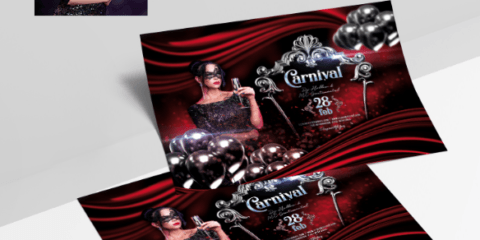 Carnival Party - Elegant Free PSD Flyer Template